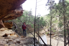 Cave down stream