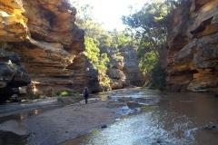 Sandstone gorge 8 kms downstream